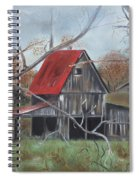 Barn - Red Roof - Autumn Spiral Notebook