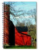 Barn Shadows Spiral Notebook
