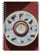 Barn Yard Clock Spiral Notebook