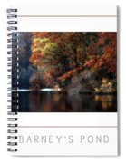 Barney's Pond Poster Spiral Notebook
