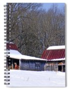 Barns And Horses In Winter Spiral Notebook