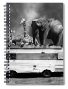 Barnum And Bailey Goes On A Road Trip 5d22705 Vertical Black And White Spiral Notebook