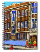 Baron Byng High School 4251 St. Urbain Street Plateau Montreal City  Scene Carole Spandau Montreal A Spiral Notebook