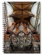 Baroque Grand Organ In Oude Kerk Spiral Notebook