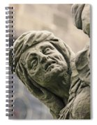 Baroque Statue Depicting Avarice Spiral Notebook