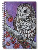 Barred Owl And Berries Spiral Notebook