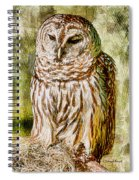 Barred Owl On Moss Spiral Notebook