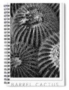 Barrel Cactus Poster Spiral Notebook