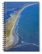 Barrier Island Aerial Spiral Notebook