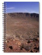 Barringer Crater, Fisheye View Spiral Notebook