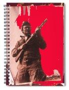 Barry Sadler Machine Gun Authentic Ww2 Africa Korps Hat Camouflage Clothes Collage Tucson 1971-2012 Spiral Notebook