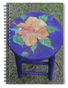 Barstool Hibiscus Spiral Notebook