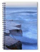 Basalt Rock, Berwick Upon Tweed Spiral Notebook