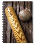 Baseball Bat And Ball Spiral Notebook