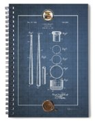 Baseball Bat By Lloyd Middlekauff - Vintage Patent Blueprint Spiral Notebook