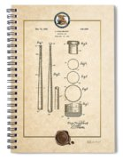 Baseball Bat By Lloyd Middlekauff - Vintage Patent Document Spiral Notebook