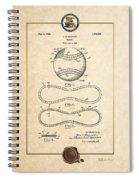 Baseball By John E. Maynard - Vintage Patent Document Spiral Notebook