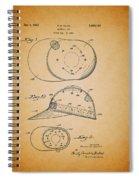 Baseball Cap Patent 1955 Spiral Notebook