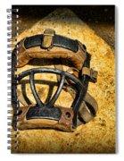 Baseball Catchers Mask Vintage  Spiral Notebook