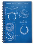 Baseball Construction Patent 2 - Blueprint Spiral Notebook