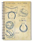 Baseball Construction Patent 2 - Vintage Spiral Notebook