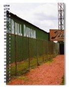 Baseball Field Bull Durham Sign Spiral Notebook