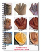 Baseball Glove Evolution Spiral Notebook