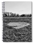 Baseball - Home Plate - Black And White Spiral Notebook