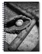 Baseball Home Plate In Black And White Spiral Notebook