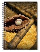 Baseball Home Plate Spiral Notebook