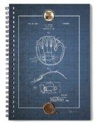 Baseball Mitt By Archibald J. Turner - Vintage Patent Blueprint Spiral Notebook