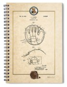 Baseball Mitt By Archibald J. Turner - Vintage Patent Document Spiral Notebook