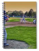Baseball On Deck Circle Spiral Notebook