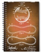 Baseball Patent Blueprint Drawing Sepia Spiral Notebook