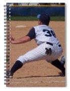 Baseball Pick Off Attempt Spiral Notebook
