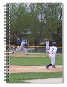Baseball Pitcher The Delivery Spiral Notebook