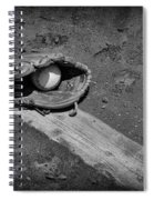 Baseball Pitchers Mound In Black And White Spiral Notebook