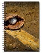 Baseball Pitchers Mound Spiral Notebook