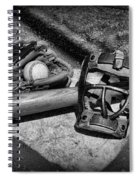 Baseball Play Ball In Black And White Spiral Notebook