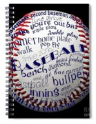 Baseball Terms Typography 1 Spiral Notebook