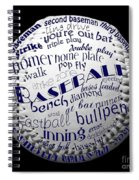 Baseball Terms Typography 2 Spiral Notebook