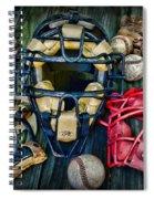 Baseball Vintage Gear Spiral Notebook
