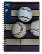 Baseballs On American Flag Folkart Spiral Notebook