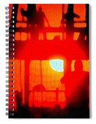 Basic Training Obstacle Course At Sunset Spiral Notebook