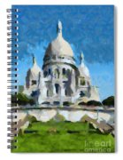 Basilica Sacred Heart- Paris Spiral Notebook