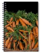 Basket Of Carrots Spiral Notebook