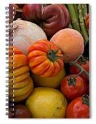 Basket Of Fruits And Vegetables Spiral Notebook
