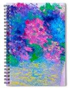 Basket Of Hydrangeas Spiral Notebook