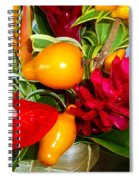 Basket Of Tropic Spiral Notebook