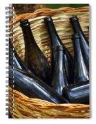Basket With Bottles Spiral Notebook